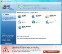 AVG 8.5 Free upozornění